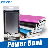 Wholesale 5v power bank - ZZYD 4000mAh Thin Slim USB Charger Powerbank Input Output 5V 1A Power Bank for Any Mobile Phone with retail package