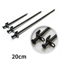 Wholesale ground iron - 20cm Black Tent Nail High Strength Steel Iron Beach Ground Peg Sturdy Easy To Use Camping Supplies Top Quality 2 4gt B