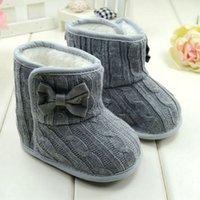 ingrosso pellicce di lana dei pattini del bambino-New Winter peluche Baby Shoes Neonato Warm Shoes Pelliccia di lana Girls Baby Sheepskin Genuine Leather Boy