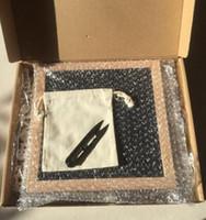 staffelei holz großhandel-DIY Black Felt Letter Board 10 * 10 '' 340 Zeichen Buchstaben Message Boards FREE Craft Knife Stofftasche Holzrahmen Staffeleien