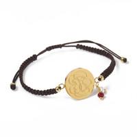 Wholesale Vintage 14k Gold Charm Bracelets - TL Vintage Designer Adjustable Nope Bear Stainless Steel Charm Bracelet Jewelry Never Fade For Women 2 Colours Gift