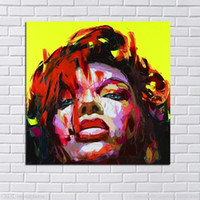 ingrosso dipinti figure signore-Moda Moderna dipinti a mano Dipinti ad olio Sexy Lady Figura colorato muro Immagine Tela Art Home Decor Ritratto Art