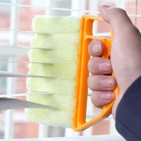 Wholesale vertical blinds resale online - Vertical Window Blinds Brush Cleaner Mini Shape Hand Held Window Brush Novelty Households Cleaning