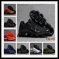 Wholesale men tenis shoes - Cheap Vapormax Plus TN Kpu Running Shoes for Mens Vapormax Plus Tn Trainers 2018 New Chaussures Pour Hommes Tenis Vapor Maxes Shoes 40-46