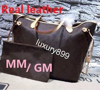 Wholesale Ladies Leather Drawstring Bag - Famous designer Cowhide orange quality Hot Sell NEVER FULL women handbag bag Shoulder Bags lady Totes handbags bags #40156 #40157 M40995
