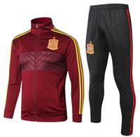 d192d24b29f Wholesale best soccer training pants for sale - Best quality Spain Jacket  kit tracksuit SERGIO RAMOS