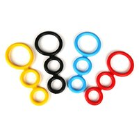 Wholesale Erection Rings - Rock Hard Silica Gel Triple Penis Rings Male Erection Enhancing For Valentine's Day