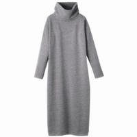 502c79792db99 2018 Women Autumn Winter Sweater Dresses Turtleneck Sexy Bodycon Long  thickening warm Dress plus size dress S-5XL 6XL vestidos