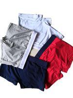 männliche unterwäsche boxer slips großhandel-Berühmte Designer Boxer Mann Baumwolle Unterwäsche Shorts Für Männer Luxus Sexy Unterwäsche Beiläufige Kurze Mann Atmungsaktiv Männlich Homosexuell Boxer Kurze Shorts