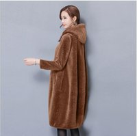 Wholesale Korean Women Xs Wool Coat - Korean imitation sheep shearing coat female new 2017 winter cloak wool skin was thin and long sections Hooded fur coat