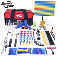 Wholesale pdr tool sets - PDR Tools Set Paintless Dent Repair Car Dent Removal Hand Tool Set PDR Reflector Board dent puller Slide Hammer glue gun tools