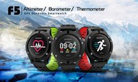 Wholesale sports watches altimeter online - F5 Smart Watch IP67 Heart Rate Monitor GPS Multi Sport Mode OLED Altimeter Bluetooth Fitness Tracker Android iOS waterproof pc