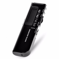 Wholesale 4gb Digital Voice Telephone Recorder - Mini Portable 4GB Digital LCD Display Voice Recorder Supports Time Display and Telephone Recording -Black