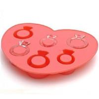 ingrosso scatole utensili rosa-Attrezzi per crema stampo per grattugiare Colore rosa Forma d'amore Anello per diamanti Contenitore per stampi Scatola per stampi in silicone Creative 3 1cm V