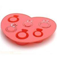 boîtes à outils de plateau achat en gros de-Ice Lattice Moule Crème Outils Rose Couleur Amour Forme Diamant Anneau Plateau Moule Faisant La Boîte En Silicone Creative 3 1cm V