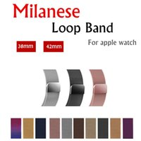 Wholesale magnetic adapters - Milanese Loop Magnetic Stainless Steel Strap Wrist Band Bracelet with Adapter Connector for Apple Watch iWatch Series mm mm