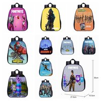 Wholesale art book wholesalers - 38 colors Small Size Fortnite School Backpack Anime Rucksacks Backpack Infant Boy Bag Cartoon Printed Book Bag Kids Gift MMA426