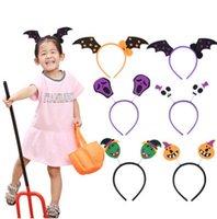sombrero decoración de cabello al por mayor-Niños lindos Decoraciones de Halloween Niños Calabaza Diadema Mascarada Brujas Anillo de la cabeza Araña Bruja Sombrero Bandas de pelo