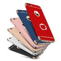 ingrosso caso di anelli di barretta-360 gradi di protezione dito indietro copertura per iphone 7 6 8 più casi protezioni di protezione del telefono caso per Apple iphone 6 6 s 5 X Stand PC guscio duro