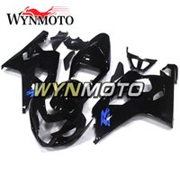 calcomanías de moto azul negro al por mayor-Calcomanías azules Nuevos carenados negros para Suzuki GSXR600-750 K4 Año 2004 - 2005 Kit de carenado completo Nuevo Revestimiento de motocicletas de alta calidad
