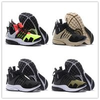 Wholesale brown boots red zipper - 2018 Presto MID Acronym UltraRunning Sports Shoes Men Mid Cut Athletic Shoes High Quality Sneaker Boots Trainers With Zipper 5 Color 40-45