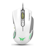 Wholesale Precision Led - White CW10 4800 DPI Wired Gaming Mouse Mice 7 Buttons Design 6 Breathing LED Colors Changing High Precision for Gamer PC MAC