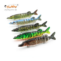 Wholesale pike lures for sale - Group buy 1Pcs cm g segement Isca Artificial Pike Lure Muskie Fishing Lures Swimbait Crankbait Hard Bait Fishing Accessory