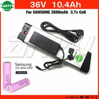 42v 2a charger 2018 - Electric Bike Battery 36v 10Ah 350w use Samsung 2600mAh 18650 Cell with 42v 2A Charger 15A BMS Li-ion Battery 36v Free Shipping