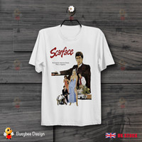 Wholesale funny gifts free shipping for sale - Group buy Al Pacino Scarface s Film Poster Vintage Retro Unisex T Shirt B86 Funny Unisex Casual tee gift