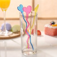 Wholesale Rods For Sale - Popular Plastic Stirring Rod Bend Love Heart Shape Disposable Swizzle Stick For Bar Tools Factory Direct Sale 0 3cy B