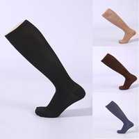 Wholesale fatigue running - Men Anti-Fatigue Compression Socks Comfortable Breathable Solid Socks Unisex Magic Stockings 6 Colors Support FBA Drop Shipping G462Q