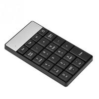 Wholesale Numeric Mini Keyboard - Black USB 2.4G Wireless Numeric Keypad 23 Keys Small Mini Keyboard With Calculator Key For Accounting Tablet Laptop Desktop