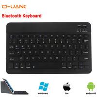 bluetooth keyboard arabic оптовых-Hebrew Arabic Spanish Russian Wireless Bluetooth keyboard for Tablet Laptop Smartphone Support Ultra Slim Multimedia keyboard