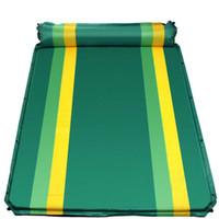 tapis de camping double achat en gros de-Double en plein air camping mat 1-2 personne automatique matelas gonflable en plein air camping plage pique-nique pliant pad