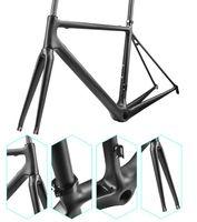 fahrradverkäufe großhandel-2018 tope Verkauf Rennrad Rahmen rote glänzende Farbe T1100 Fahrrad Carbonrahmen V Bremsen Fahrrad Carbon Framest Made in China ems versandkostenfrei