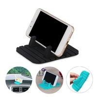 mattenhalter für telefon großhandel-Autotelefonhalter Weiche Silikon Anti Slip Mat Handyhalterung Ständer Halterung Unterstützung GPS für iPhone 5 6 7 8 x