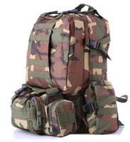 Wholesale large military backpacks - Large Capacity Outdoor Sports Bag mountain Backpack Rucksacks Military Tactical bag Hiking Hunting Bags Packs LJJE16
