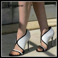Wholesale M Chic - chic V cut white black high heel sandals summer women office shoes 2018 size 34 to 40