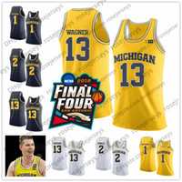 Wholesale charles red - NCAA Michigan Wolverines #13 Moritz Wagner 1 Charles Matthews 2 Poole white navy blue yellow Stitched College Basketball Final Four Jersey S