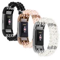 pulsera de perlas relojes mujeres al por mayor-Perlas tramo de la correa de las mujeres de lujo para el reemplazo de carga 2 Smart venda de reloj de la pulsera de la correa del reloj para Versa