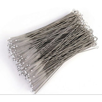 Wholesale tools for kitchen - Wholesales mm mm Stainless Steel Straw Brush for Straw Mugs Cups Gadgets Kitchen Accessories Wedding Decoration Home Decor Bar Tools