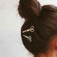 ingrosso scissor decorazione-Forbici Moda Forma Clip di capelli -1 Pz Donne Lady Girls Golden Silvery Hair Pin Headwear - Accessori per capelli Decorazioni