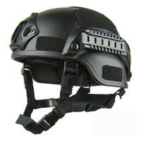 capacete de airsoft abs venda por atacado-Qualidade Leve RÁPIDO Capacete 2000 Airsoft MH Tactical Capacete Ao Ar Livre Tático Paintball CS SWAT Equitação Equipamentos de Proteção