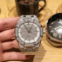 espejo multifuncional al por mayor-Marca de moda superior Reloj de diamantes para hombres Calidad Royal Oak Multifuncional Movimiento automático 43 mm Cristal de zafiro Espejo Nuevo lanzamiento