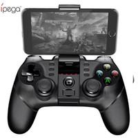 cep telefonu oyunları toptan satış-Ipega pg kablosuz gamepad bluetooth oyun denetleyicisi gamepad kolu ile turbo joystick için android / ios tablet pc cep telefonu tv kutusu