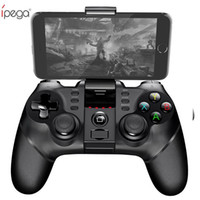 ipega oyunları toptan satış-Ipega pg kablosuz gamepad bluetooth oyun denetleyicisi gamepad kolu ile turbo joystick için android / ios tablet pc cep telefonu tv kutusu
