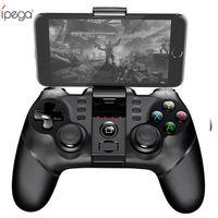 controlador de juegos gamepad android al por mayor-iPega PG Wireless Gamepad Controlador de juegos Bluetooth Gamepad Manija con TURBO Joystick para Android / iOS Tablet PC Teléfono celular TV Box