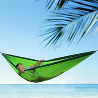 Wholesale camp hammock for sale - Group buy 2 People Portable Parachute Hammock Camping Survival Garden knit Hunting Leisure Hamac Travel Double Person Hamak Colors