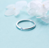 Wholesale plain sterling silver ring - whole sale925 Sterling Silver Simple Plain CZ Dainty Band Ring Women Jewelry A3539
