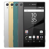 Wholesale waterproof phones unlock android - Refurbished Original Sony Z5 E6653 E6683 Unlocked 4G LTE 5.2 inch Octa Core 3GB RAM 32GB ROM 23MP Waterproof Android Smart Phone DHL 10pcs